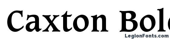 Caxton Bold BT Font