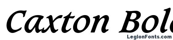 Шрифт Caxton Bold Italic BT