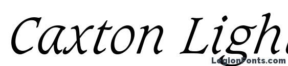 Шрифт Caxton Light Italic BT