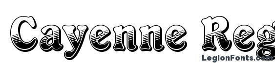 Cayenne Regular Font Download Free / LegionFonts