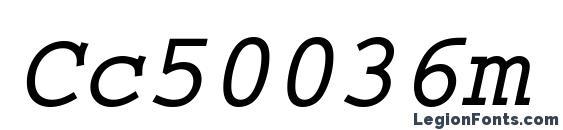 Cc50036m Font