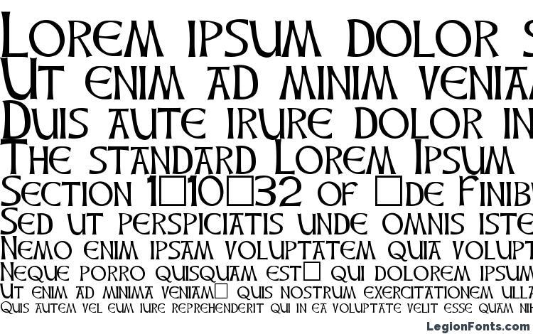 specimens CelticHand font, sample CelticHand font, an example of writing CelticHand font, review CelticHand font, preview CelticHand font, CelticHand font
