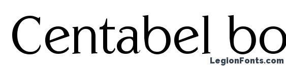 Centabel book Font