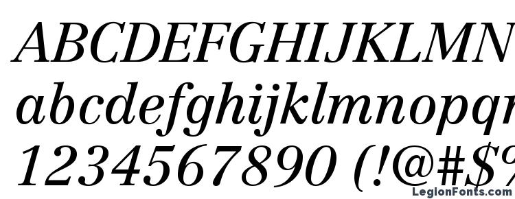 глифы шрифта CentennialLTStd Italic, символы шрифта CentennialLTStd Italic, символьная карта шрифта CentennialLTStd Italic, предварительный просмотр шрифта CentennialLTStd Italic, алфавит шрифта CentennialLTStd Italic, шрифт CentennialLTStd Italic