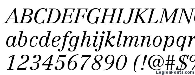 glyphs CentennialLTStd LightItalic font, сharacters CentennialLTStd LightItalic font, symbols CentennialLTStd LightItalic font, character map CentennialLTStd LightItalic font, preview CentennialLTStd LightItalic font, abc CentennialLTStd LightItalic font, CentennialLTStd LightItalic font