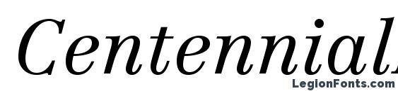 Шрифт CentennialLTStd LightItalic