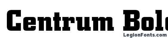 Centrum Bold font, free Centrum Bold font, preview Centrum Bold font