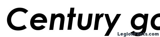 Шрифт Century gothic bold italic