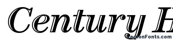 Шрифт Century Htld OS ITC TT Italic