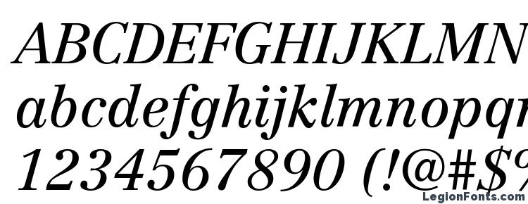 глифы шрифта Century Reprise SSi Italic, символы шрифта Century Reprise SSi Italic, символьная карта шрифта Century Reprise SSi Italic, предварительный просмотр шрифта Century Reprise SSi Italic, алфавит шрифта Century Reprise SSi Italic, шрифт Century Reprise SSi Italic