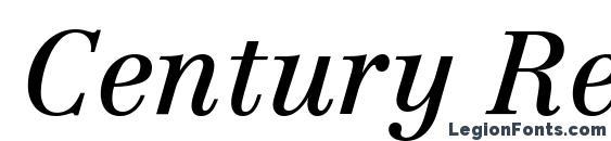 Шрифт Century Reprise SSi Italic