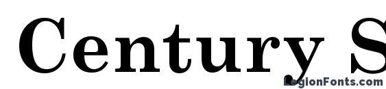 Century Schoolbook Полужирный Font