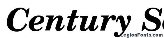 Шрифт Century Schoolbook Bold Italic SWA
