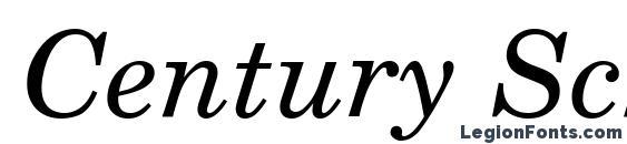 Шрифт Century Schoolbook Reprise SSi Italic