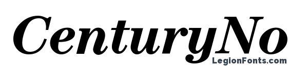 CenturyNova BoldItalic Font