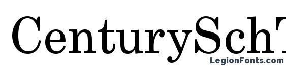 Шрифт CenturySchTEE