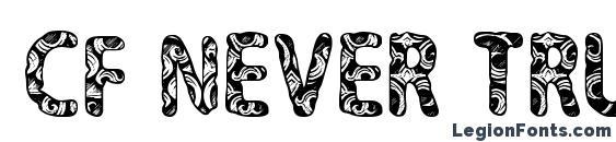 CF Never Trust A Hippy Regular Font, 3D Fonts