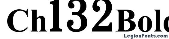 Ch132Bold Font, Russian Fonts