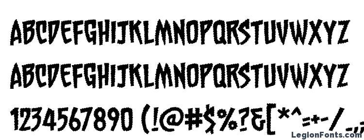 глифы шрифта Chainsawz BB, символы шрифта Chainsawz BB, символьная карта шрифта Chainsawz BB, предварительный просмотр шрифта Chainsawz BB, алфавит шрифта Chainsawz BB, шрифт Chainsawz BB