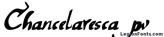 Chancelaresca pw Font, Cursive Fonts