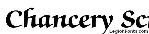 Chancery Script Black SSi Bold Font