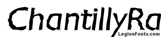 ChantillyRandom Italic Font