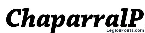 ChaparralPro BoldIt Font