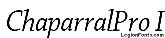 ChaparralPro ItDisp Font
