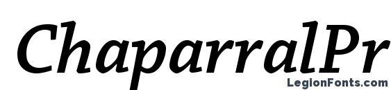 шрифт ChaparralPro SemiboldIt, бесплатный шрифт ChaparralPro SemiboldIt, предварительный просмотр шрифта ChaparralPro SemiboldIt