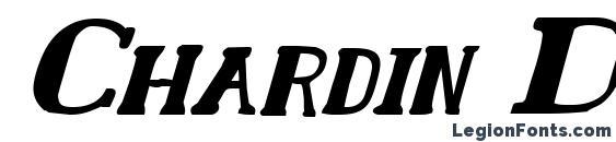 Chardin Doihle Bold Italic font, free Chardin Doihle Bold Italic font, preview Chardin Doihle Bold Italic font