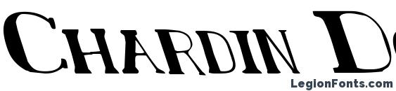 Шрифт Chardin Doihle Leftalic