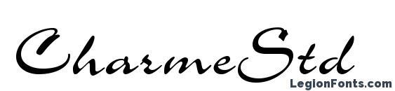 CharmeStd font, free CharmeStd font, preview CharmeStd font