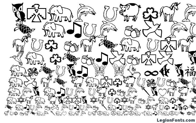 specimens Charmingsymbols font, sample Charmingsymbols font, an example of writing Charmingsymbols font, review Charmingsymbols font, preview Charmingsymbols font, Charmingsymbols font