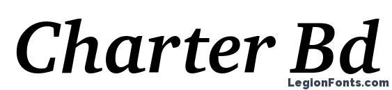 Charter Bd ITC TT BoldItalic Font