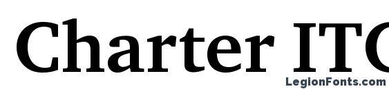 Шрифт Charter ITC Bold