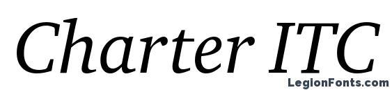 Шрифт Charter ITC TT Italic