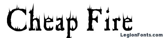 Cheap Fire Font, Halloween Fonts