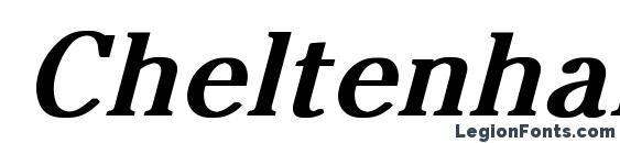 Шрифт Cheltenham Normal Bold Italic