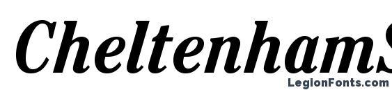 Шрифт CheltenhamStd BoldCondIt