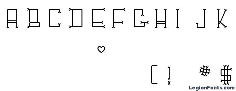 glyphs ChesBone font, сharacters ChesBone font, symbols ChesBone font, character map ChesBone font, preview ChesBone font, abc ChesBone font, ChesBone font