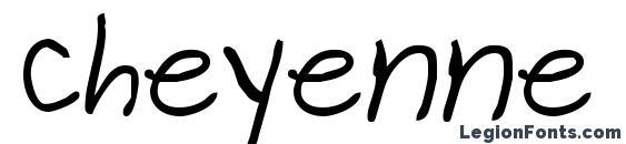 Cheyenne Hand Bold Font, Cursive Fonts