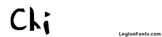 шрифт Chi, бесплатный шрифт Chi, предварительный просмотр шрифта Chi