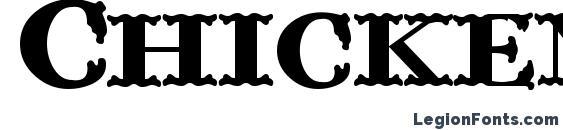шрифт ChickenFarm, бесплатный шрифт ChickenFarm, предварительный просмотр шрифта ChickenFarm