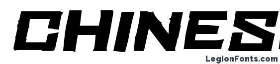 ChineseRocksFt Italic Font
