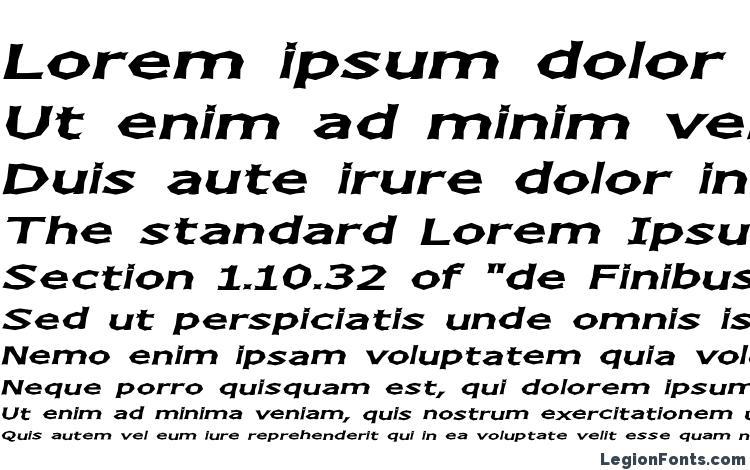 образцы шрифта Chizz wide italic, образец шрифта Chizz wide italic, пример написания шрифта Chizz wide italic, просмотр шрифта Chizz wide italic, предосмотр шрифта Chizz wide italic, шрифт Chizz wide italic