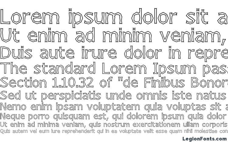 specimens Chizzler Outline font, sample Chizzler Outline font, an example of writing Chizzler Outline font, review Chizzler Outline font, preview Chizzler Outline font, Chizzler Outline font