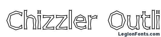 шрифт Chizzler Outline, бесплатный шрифт Chizzler Outline, предварительный просмотр шрифта Chizzler Outline