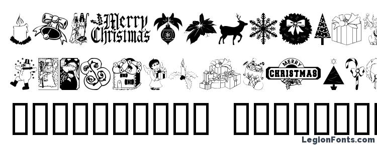 glyphs ChristmasTime font, сharacters ChristmasTime font, symbols ChristmasTime font, character map ChristmasTime font, preview ChristmasTime font, abc ChristmasTime font, ChristmasTime font