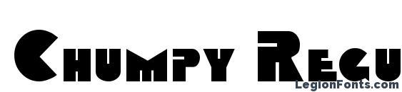 Chumpy Regular font, free Chumpy Regular font, preview Chumpy Regular font