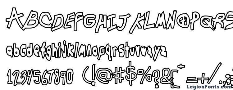 глифы шрифта Chunkmuffin Hollow, символы шрифта Chunkmuffin Hollow, символьная карта шрифта Chunkmuffin Hollow, предварительный просмотр шрифта Chunkmuffin Hollow, алфавит шрифта Chunkmuffin Hollow, шрифт Chunkmuffin Hollow